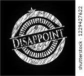 disappoint chalkboard emblem on ... | Shutterstock .eps vector #1229427622