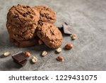 delicious chocolate cookies...   Shutterstock . vector #1229431075