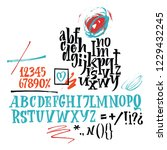 vector alphabet. hand drawn... | Shutterstock .eps vector #1229432245