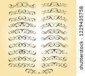 set calligraphic design... | Shutterstock .eps vector #1229435758