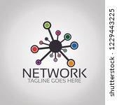 network  logo template   Shutterstock .eps vector #1229443225