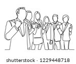 continuous line drawing of a... | Shutterstock .eps vector #1229448718