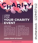 charity and donation poster... | Shutterstock .eps vector #1229457112
