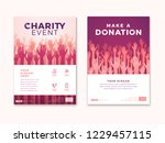 charity and donation poster... | Shutterstock .eps vector #1229457115