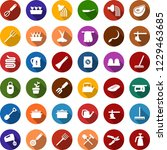 color back flat icon set  ... | Shutterstock .eps vector #1229463685