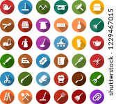 color back flat icon set  ... | Shutterstock .eps vector #1229467015