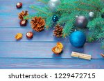 christmas decoration  gift box... | Shutterstock . vector #1229472715