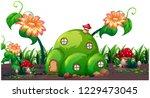 an enchanted magic house...   Shutterstock .eps vector #1229473045