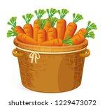 carrot in in basket weaving... | Shutterstock .eps vector #1229473072