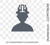safety helmet icon. trendy flat ... | Shutterstock .eps vector #1229478658