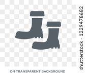 rubber boots icon. trendy flat... | Shutterstock .eps vector #1229478682