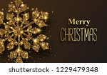 merry christmas greeting card...   Shutterstock .eps vector #1229479348