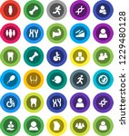 white solid icon set  manager... | Shutterstock .eps vector #1229480128