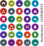 white solid icon set  scoop... | Shutterstock .eps vector #1229482915