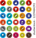 white solid icon set  book... | Shutterstock .eps vector #1229484292