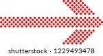 sideways. dotted sign. arrow... | Shutterstock .eps vector #1229493478