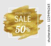 sale golden blot  vector... | Shutterstock .eps vector #1229496265
