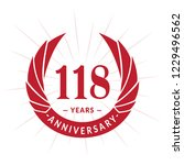 118 years anniversary. elegant... | Shutterstock .eps vector #1229496562