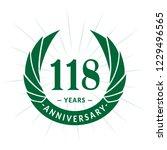 118 years anniversary. elegant... | Shutterstock .eps vector #1229496565