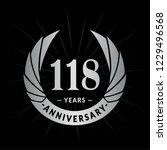 118 years anniversary. elegant... | Shutterstock .eps vector #1229496568