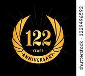 122 years anniversary. elegant... | Shutterstock .eps vector #1229496592
