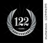 122 years anniversary. elegant... | Shutterstock .eps vector #1229496595