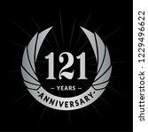 121 years anniversary. elegant... | Shutterstock .eps vector #1229496622