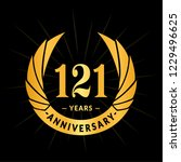121 years anniversary. elegant... | Shutterstock .eps vector #1229496625