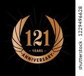 121 years anniversary. elegant... | Shutterstock .eps vector #1229496628