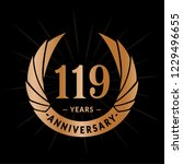 119 years anniversary. elegant... | Shutterstock .eps vector #1229496655