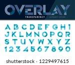 vector of modern alphabet... | Shutterstock .eps vector #1229497615