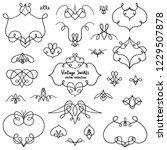 decorative calligraphic swirls...   Shutterstock .eps vector #1229507878