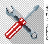icon of a screwdriver and... | Shutterstock .eps vector #1229508328