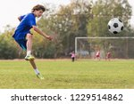 young children player on the... | Shutterstock . vector #1229514862