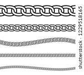 set of black isolated outline... | Shutterstock .eps vector #1229518165