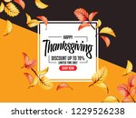 thanks giving design... | Shutterstock .eps vector #1229526238