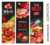 meat products  butcher shop or... | Shutterstock .eps vector #1229527678