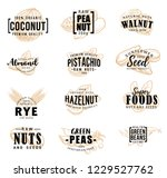 nuts and fruit seeds sketch... | Shutterstock .eps vector #1229527762