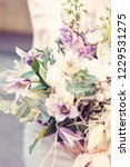 beautiful bouquet with delicate ... | Shutterstock . vector #1229531275