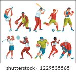 colorful sport background.... | Shutterstock .eps vector #1229535565