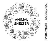 vector animal shelter logo... | Shutterstock .eps vector #1229539222