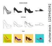 vector design of footwear and... | Shutterstock .eps vector #1229540392
