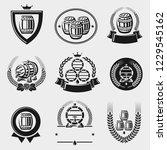 barrels label collection set.... | Shutterstock .eps vector #1229545162
