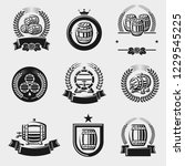 barrels label collection set.... | Shutterstock .eps vector #1229545225