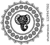 beautiful card with elephant...   Shutterstock . vector #1229547502