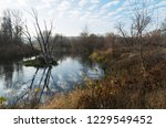 beautiful landscape with river  ... | Shutterstock . vector #1229549452