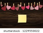 pins for clothes hang on a rope ... | Shutterstock .eps vector #1229553022