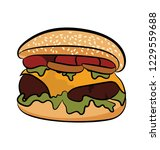 hand drawn icon of tortilla...   Shutterstock .eps vector #1229559688