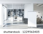 manager office with loft window ... | Shutterstock . vector #1229563405