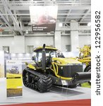 Small photo of MOSCOW, OCT 11: Crawler tractors Challenger MT685C American company AGCO AGROSALON at the international exhibition in Moscow in October 11.2012